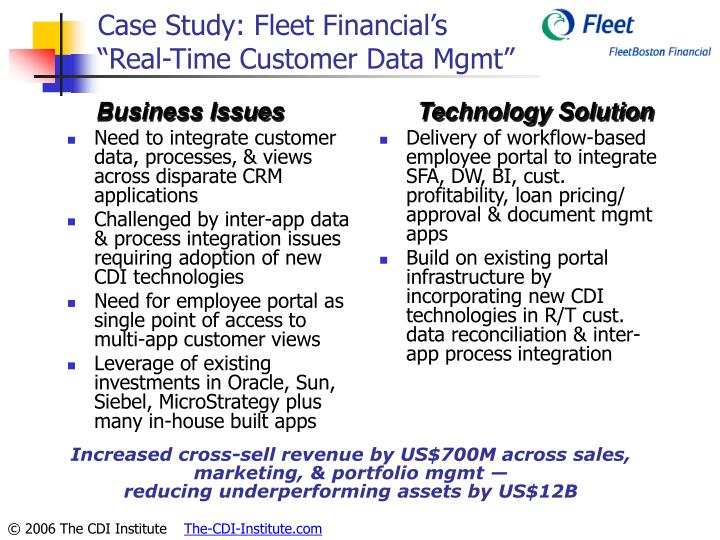 Case Study: Fleet Financial's