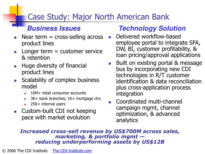 Case Study: Major North American Bank