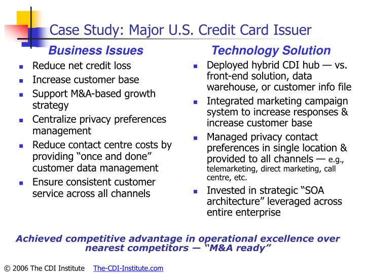 Case Study: Major U.S. Credit Card Issuer