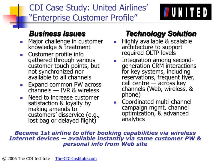 CDI Case Study: United Airlines'