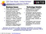 cdi case study united airlines enterprise customer profile