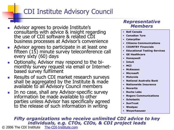 CDI Institute Advisory Council