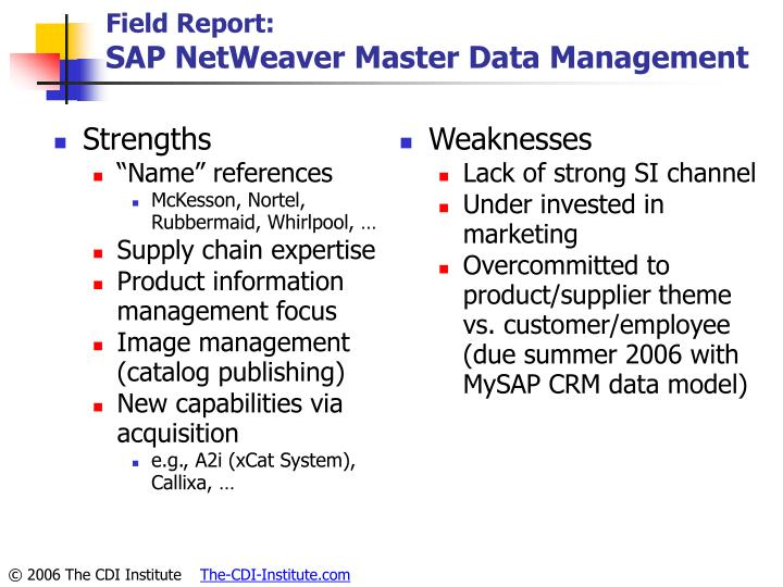 Field Report: