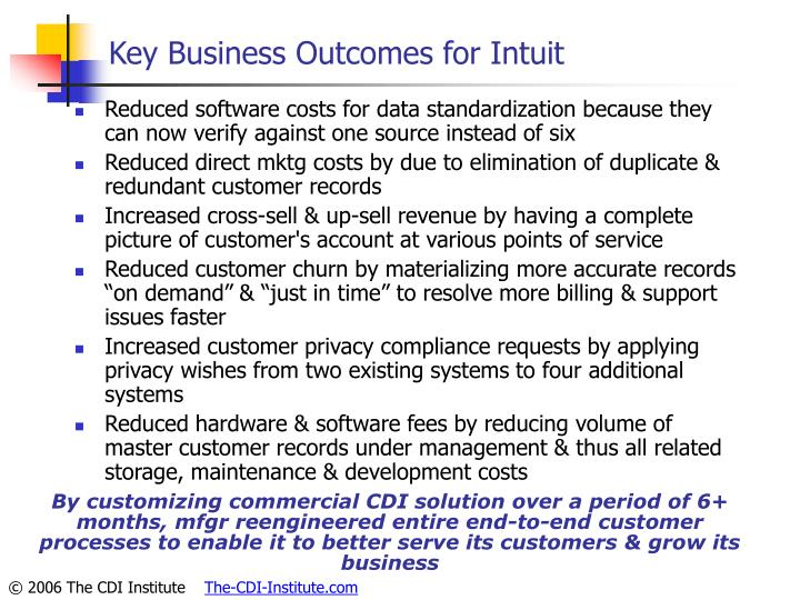 Key Business Outcomes for Intuit