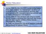 market maturation