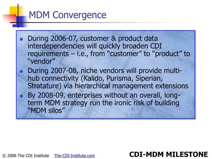 MDM Convergence