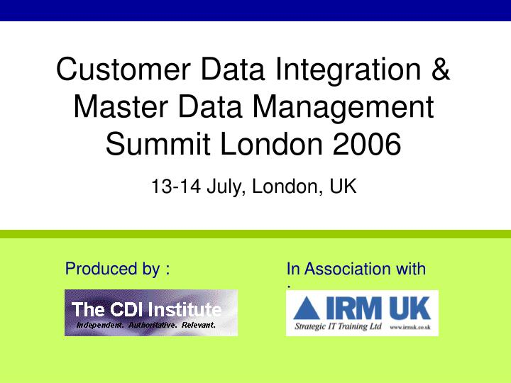Customer Data Integration &