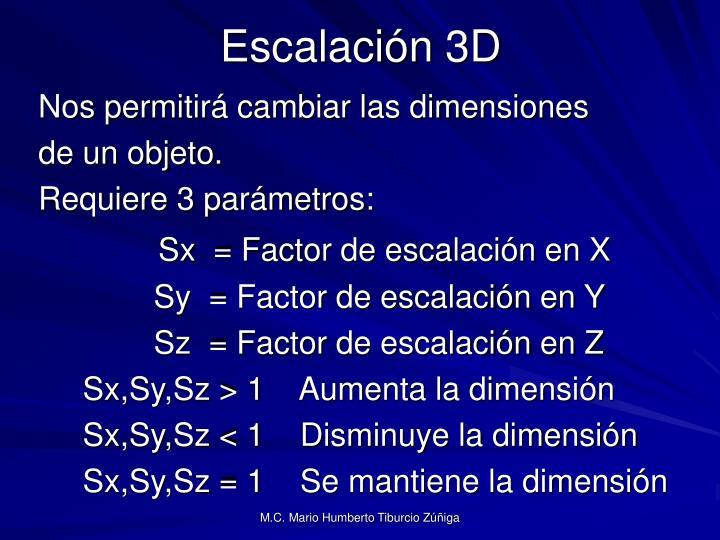 Escalación 3D