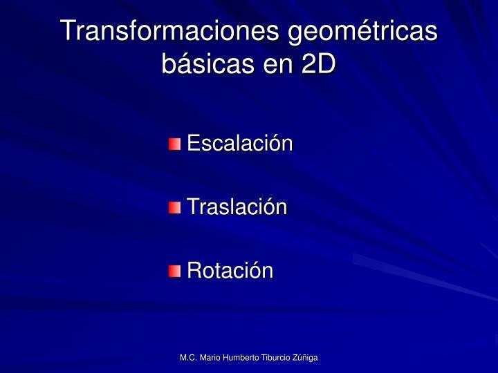 Transformaciones geométricas básicas en 2D