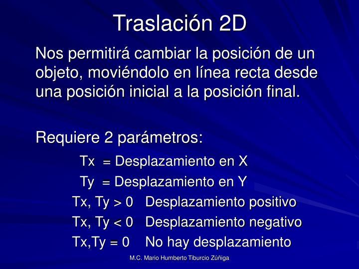 Traslación 2D