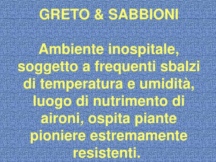 GRETO & SABBIONI