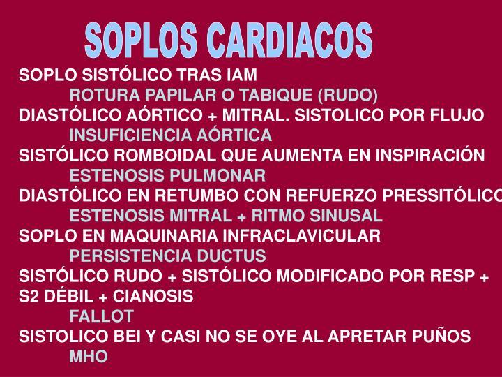 SOPLOS CARDIACOS