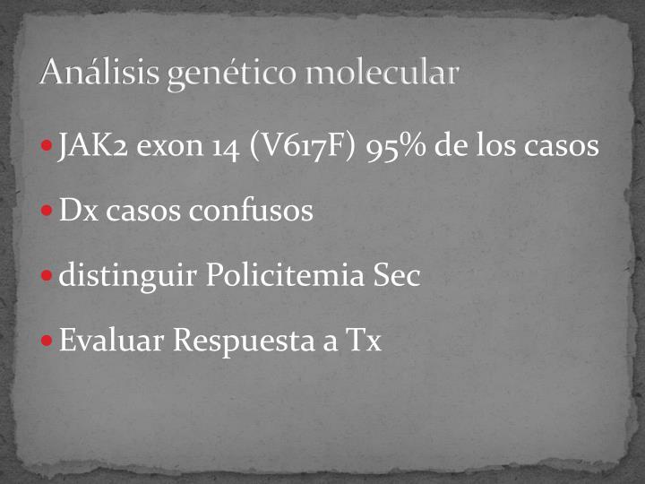 Análisis genético molecular