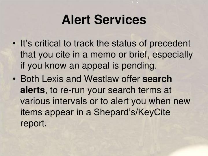 Alert Services