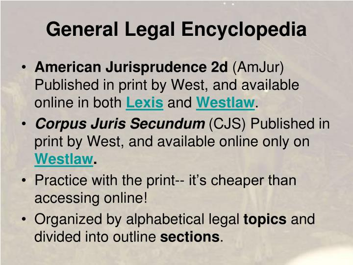 General Legal Encyclopedia