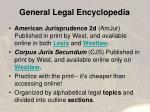 general legal encyclopedia