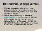 more sources 50 state surveys