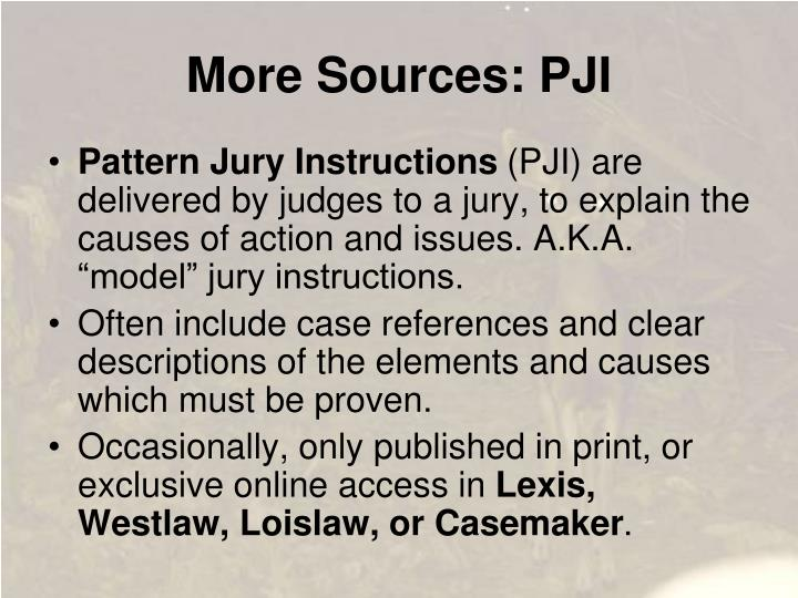 More Sources: PJI