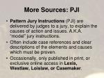 more sources pji