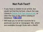 not full text