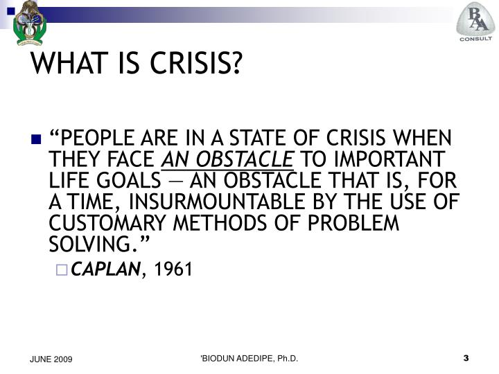 What is crisis