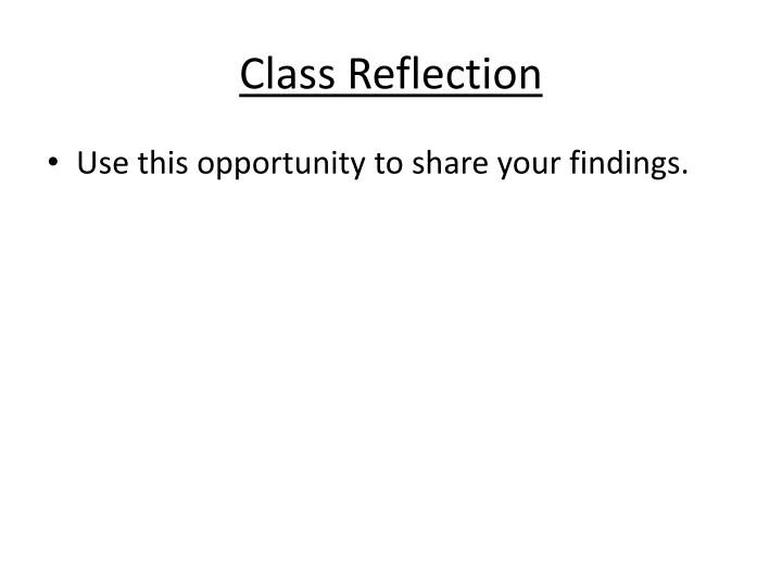 Class Reflection