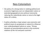 neo colonialism
