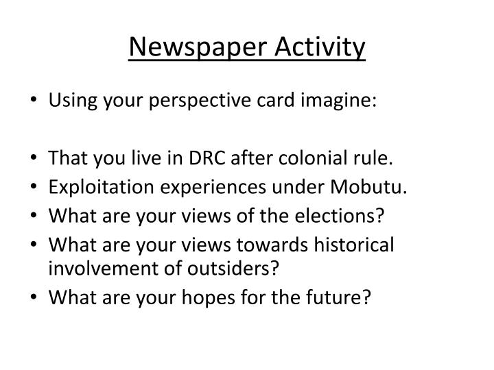 Newspaper Activity