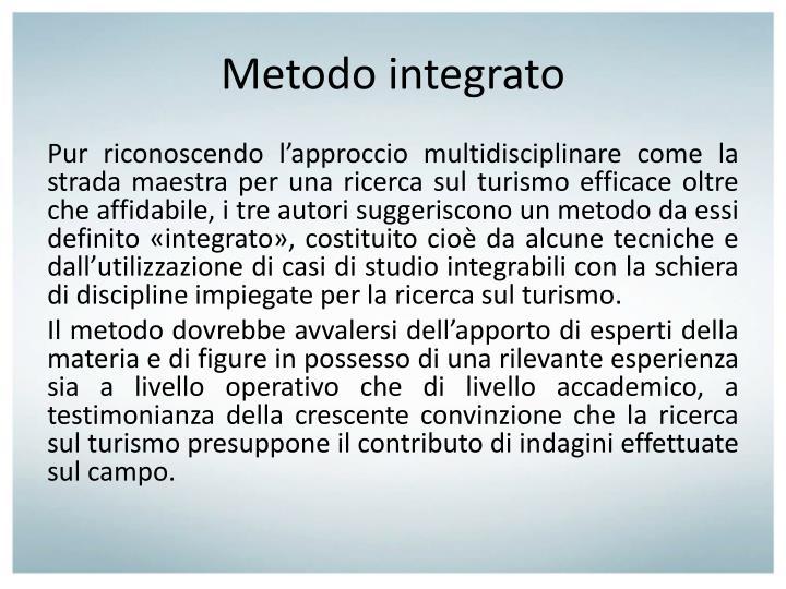 Metodo integrato