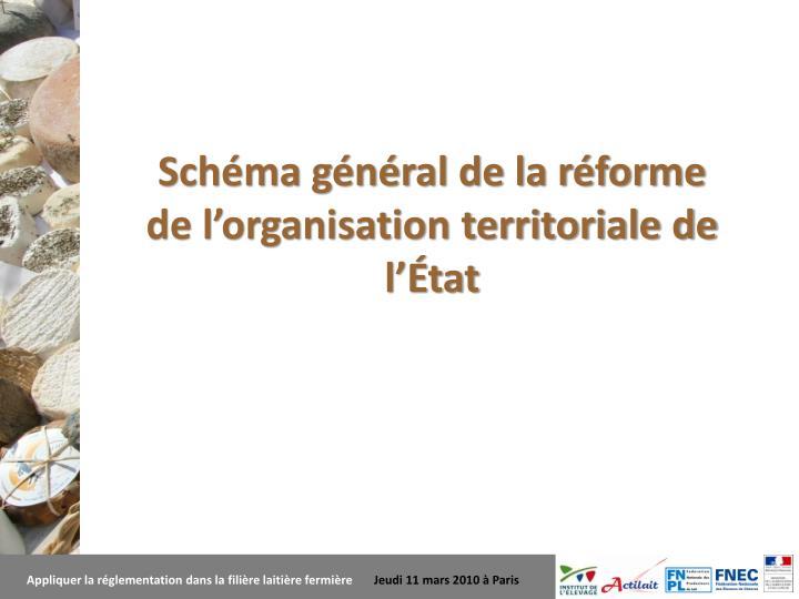 Schéma général de la réforme de l'organisation territoriale de l'État