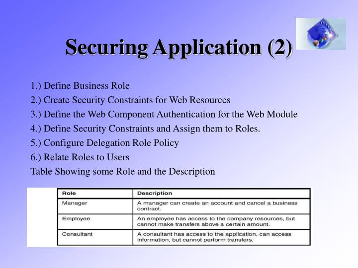 Securing Application (2)