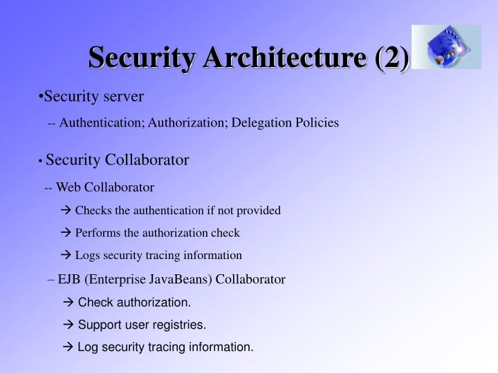 Security Architecture (2)