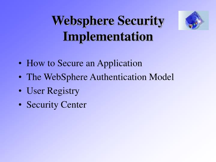 Websphere Security Implementation