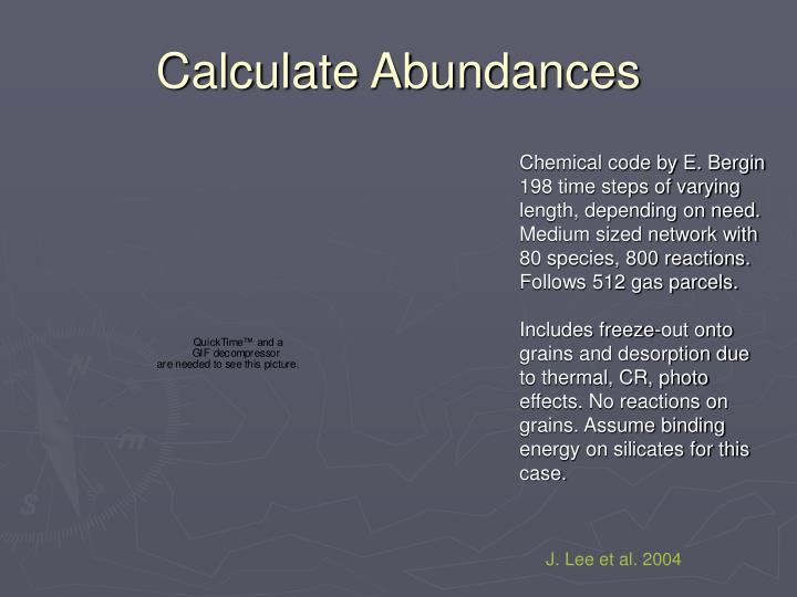 Calculate Abundances