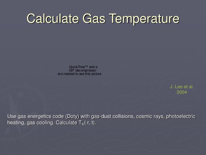 Calculate Gas Temperature