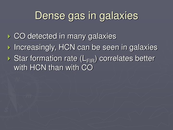 Dense gas in galaxies