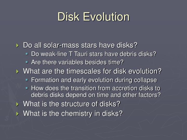 Disk Evolution