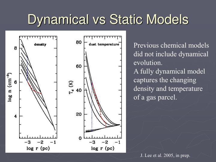 Dynamical vs Static Models