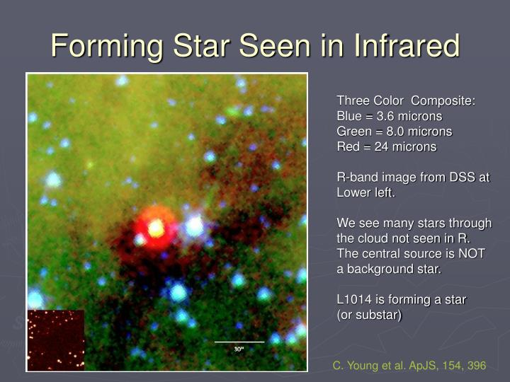 Forming Star Seen in Infrared