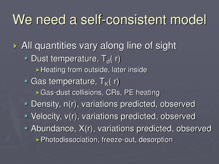 We need a self-consistent model