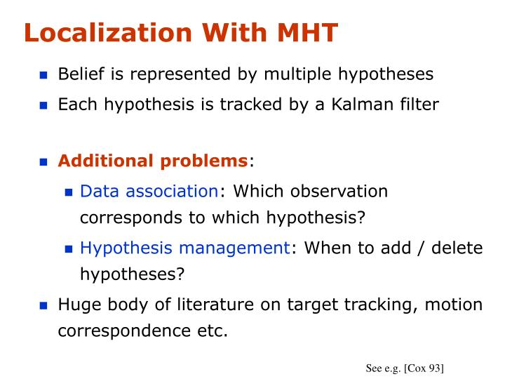 Localization With MHT