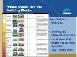 place types are the building blocks