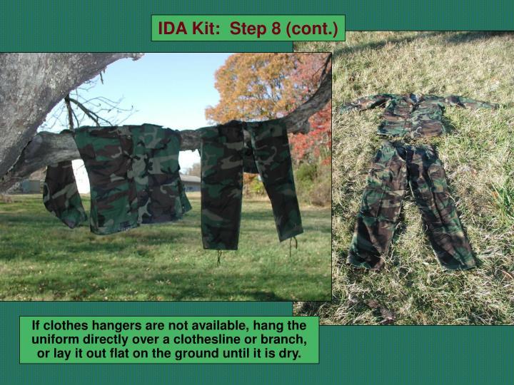 IDA Kit:  Step 8 (cont.)