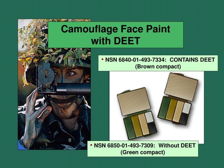 Camouflage Face Paint with DEET