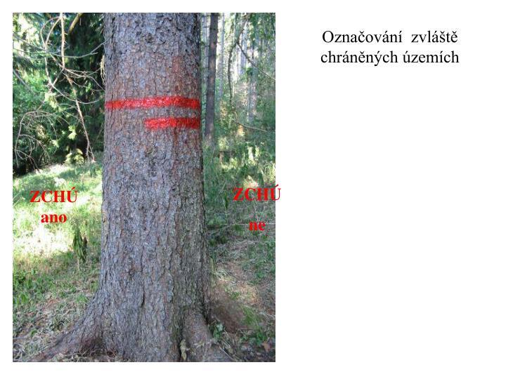 Označování  zvláště chráněných územích