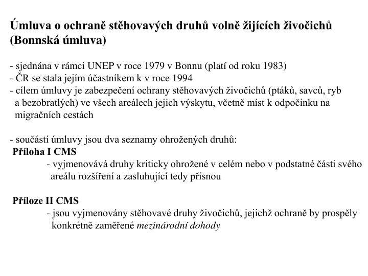 mluva o ochran sthovavch druh voln ijcch ivoich  (Bonnsk mluva)