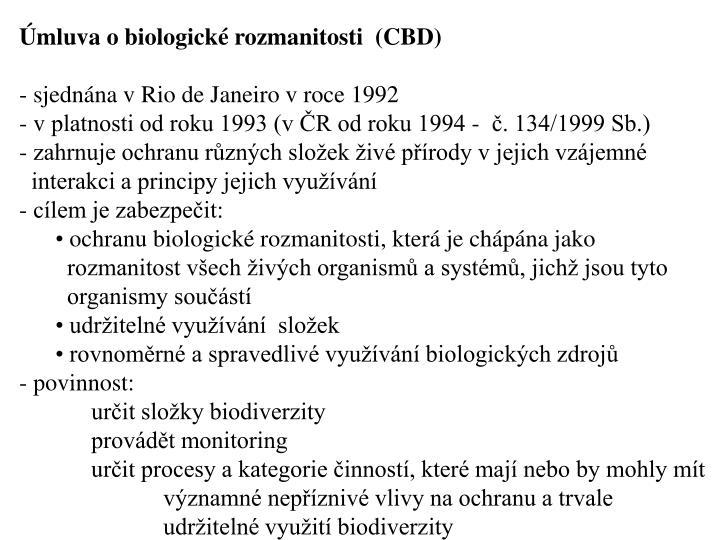 mluva o biologick rozmanitosti  (CBD)