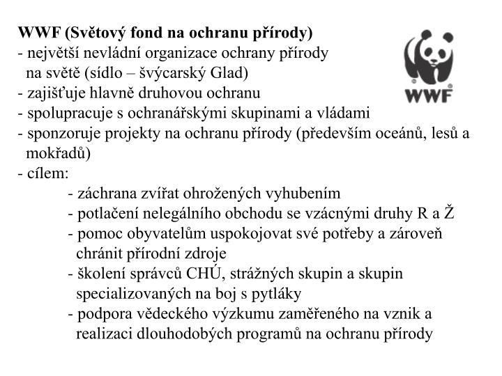 WWF (Svtov fond na ochranu prody)