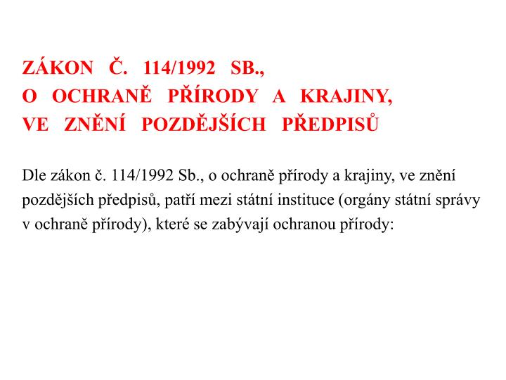 ZKON   .   114/1992   SB.,