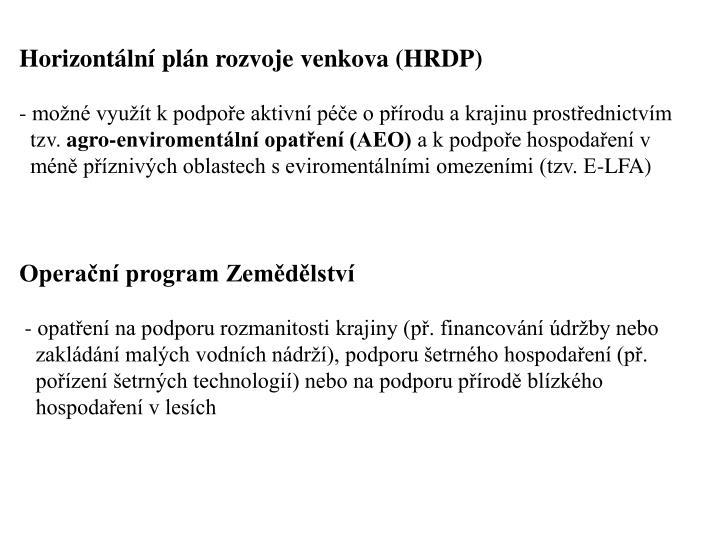 Horizontální plán rozvoje venkova (HRDP)